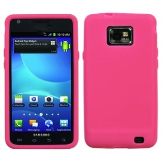 INSTEN Solid Hot Pink Skin Phone Case Cover for Samsung Galaxy S2 I777