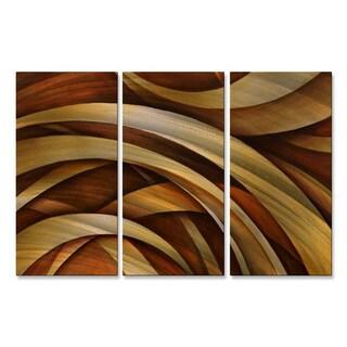 Michael Lang 'Tri Fold Ribbon' Metal Wall Decor 3-piece Set