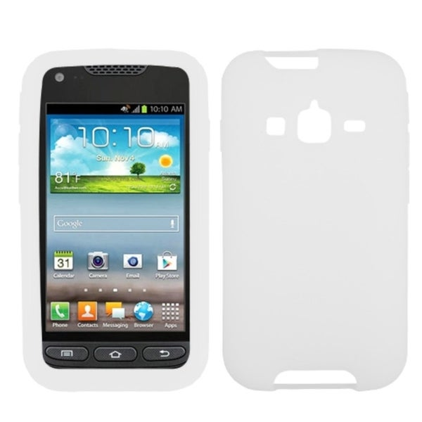 INSTEN Solid White Skin Phone Case Cover for Samsung Galaxy Rugby Pro I547