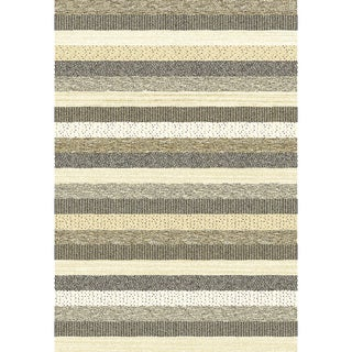 Eternity Striped Natural Rug (6'7 x 9'6)