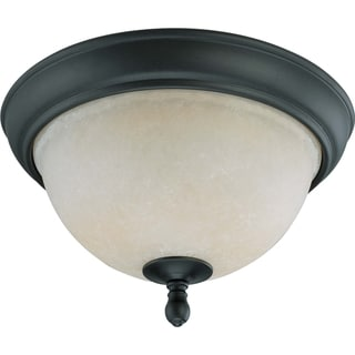 Nuvo Bella 2-light Aged Bronze Flush Mount