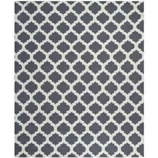 Safavieh Hand-woven Moroccan Reversible Dhurrie Blue Wool Rug (8' x 10')