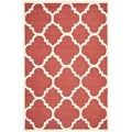 Safavieh Handmade Moroccan Cambridge Rust/ Ivory 100-percent Wool Rug (6' x 9')