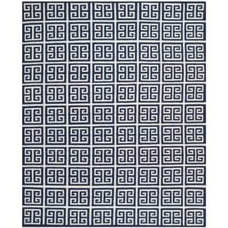 Safavieh Hand-woven Moroccan Dhurrie Navy Wool Rug (9' x 12')