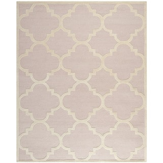 Safavieh Handmade Moroccan Cambridge Light Pink/ Ivory Wool Rug (8' x 10')