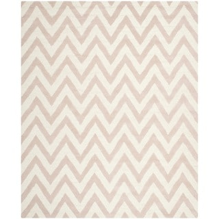 Safavieh Handmade Moroccan Cambridge Light Pink/ Ivory Wool Area Rug (8' x 10')