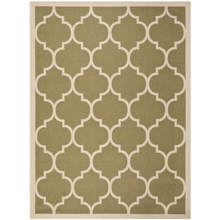 Contemporary Safavieh Indoor/ Outdoor Courtyard Green/ Beige Rug (9' x 12')