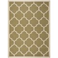 Safavieh Indoor/ Outdoor Courtyard Trellis-pattern Green/ Beige Rug (6'7'' x 9'6'')
