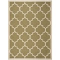 Safavieh Indoor/ Outdoor Courtyard Trellis-pattern Green/ Beige Rug (5'3'' x 7'7'')