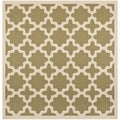 Safavieh Indoor/ Outdoor Courtyard Green/ Beige Contemporary Rug (7'10 Square)