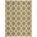Safavieh Indoor/ Outdoor Courtyard Green/ Beige Rug (8' x 11')