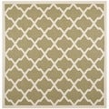 Safavieh Indoor/ Outdoor Courtyard Green/ Beige Rug (7'10 Square)