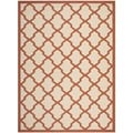 Safavieh Indoor/ Outdoor Courtyard Beige/ Terracotta Rug (6'7 x 9'6)