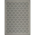 Safavieh Indoor/ Outdoor Courtyard Grey/ Beige Rug (5'3 x 7'7)