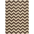 Safavieh Indoor/ Outdoor Courtyard Dark Brown Area Rug (8' x 11')