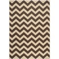 Safavieh Courtyard Dark Brown Indoor/ Outdoor Area Rug (4' x 5'7)