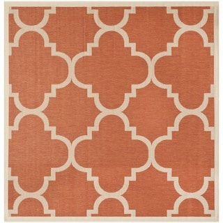 Safavieh Indoor/ Outdoor Courtyard Terracotta Rug (6'7 Square)