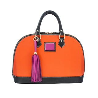 Claudia G. 'Antonia' Genuine Orange Canvas Petite Bag
