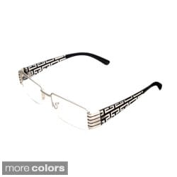 Hot Optix Women's Geometric Etched Semi-Rimless Reading Glasses
