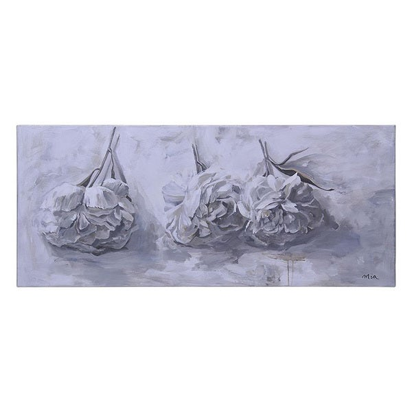 Mia Archer 'First Peonies' Hand-painted Canvas Art
