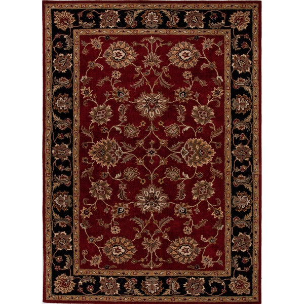 Hand-tufted Traditional Oriental Red/ Orange Rug (12' x 18')