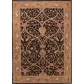 Hand-tufted Traditional Oriental Pattern Yellow Rug (5' x 8')