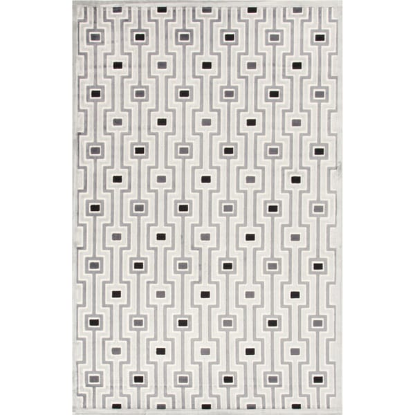Contemporary Geometric Gray/ Black Rug (7'6 x 9'6)