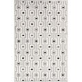 Contemporary Geometric Gray/ Black Rug (2' x 3')