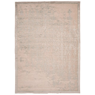 Contemporary Abstract Pattern Ivory Rug (5' x 7'6)