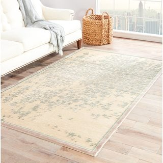Contemporary Abstract Pattern Ivory Rug (7'6 x 9'6)