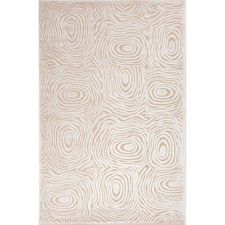 Contemporary Abstract Pattern Ivory Rug (9' x 12')