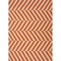 Handmade Flat-weave Stripe-pattern Red/ Orange Area Rug (5' x 8')