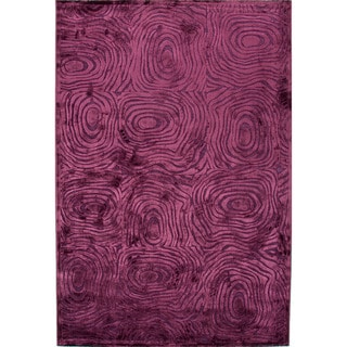 Contemporary Abstract Pink/ Purple Rug (5' x 7'6)