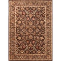 Hand-tufted Traditional Oriental-pattern Rectangular Brown Rug (2' x 3')