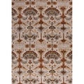 Hand-tufted Transitional arts/ Crafts Pattern Brown Rug (5' x 8')