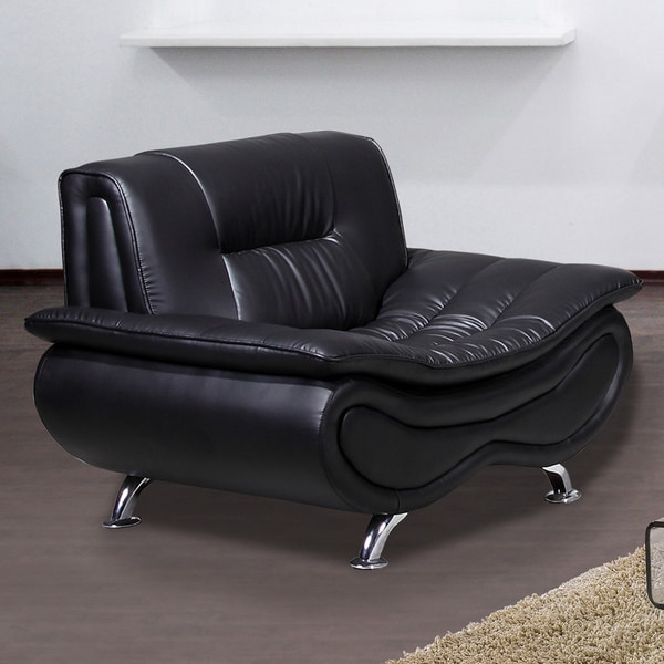 Christina Black Leather Chair