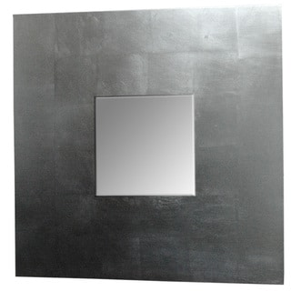 Contemporary Silver Leaf Square Framed Mirror
