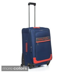 Nautica Rhumb Collection 24-inch Medium Expandable Spinner Upright Suitcase