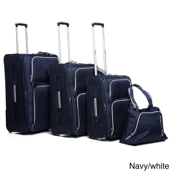 Nautica Catamaran II 4-piece Rolling Upright Luggage Set