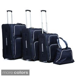 Nautica Catamaran II 4-piece Rolling Upright Luggage Set