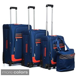 Nautica Rhumb 4-piece Expandable Spinner Luggage Set