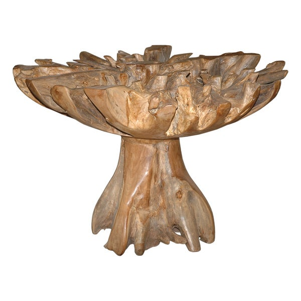 Decorative Brown Rustic Transitional Natural Round End  : Natural Dining Table without Glass top 1877bee7 76e9 4f06 b14c d7a8499e9369600 from www.overstock.com size 600 x 600 jpeg 53kB