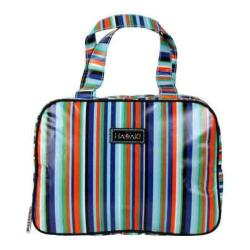 Women's Hadaki by Kalencom Sponge Nylon Makeup Case Pod Mardi Gras Stripes