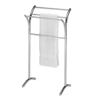 Chrome Finish Metal Towel Bathroom Quilt Branched Rack Stand