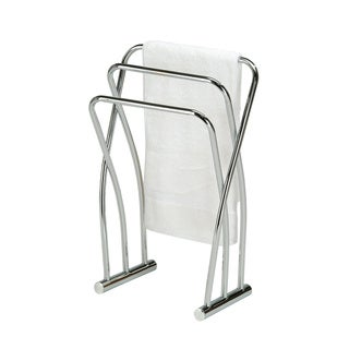 Chrome Finish Towel Bathroom Quilt Rack Stand