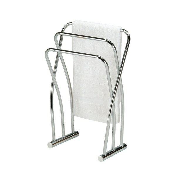 Chrome Finish Towel Bathroom Quilt Rack Stand 15519114