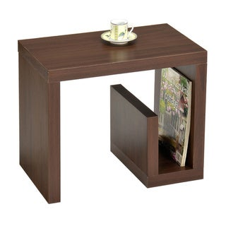 Walnut Finish Modern Chair Side End Table