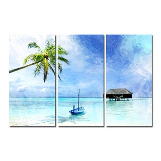 Alexis Bueno 'Tropical' Canvas Wall Art 3-piece Set