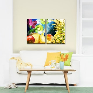 Alexis Bueno 'Tropical Fruit' Canvas Wall Art 2-piece Set