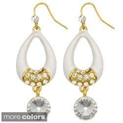 Kate Marie Goldtone Rhinestone 'Rita' Fashion Earrings